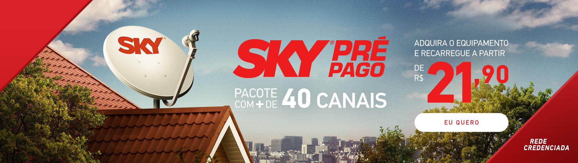 Equipamento Pré Pago - SKY TV